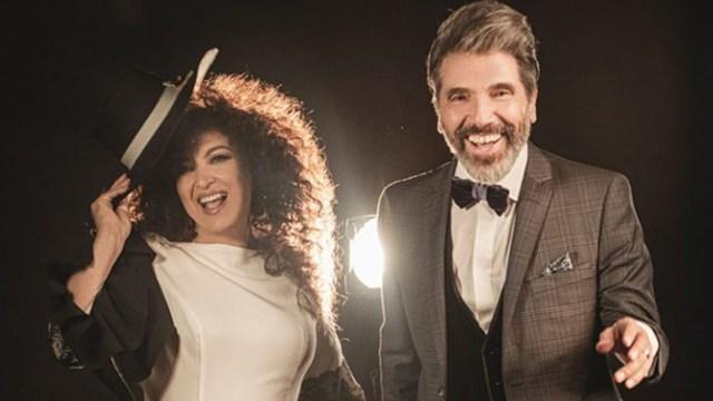 Diego Verdaguer y Amanda Miguel felices