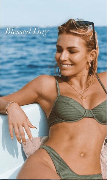 Irina Baeva destrona a Geraldine Bazán con foto en traje de baño