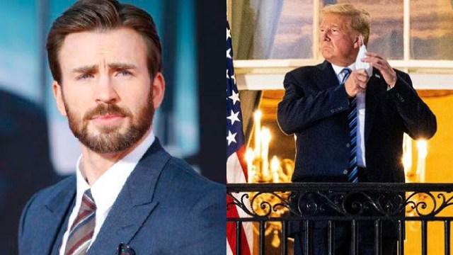 Chris Evans ataca a Donadl Trump por covid-19