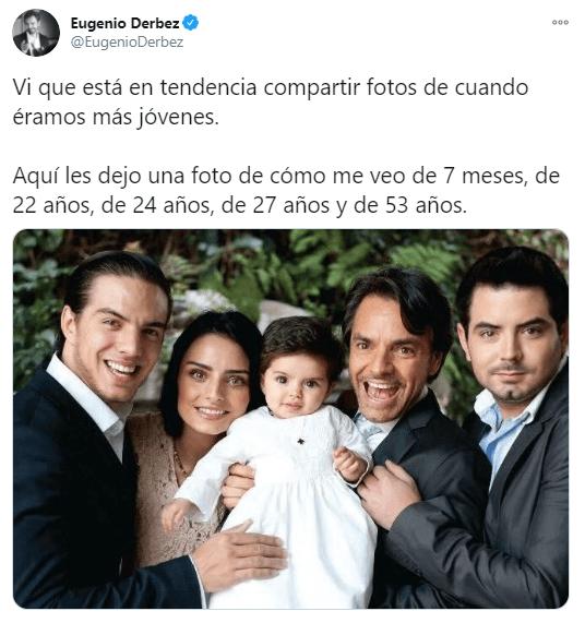 Eugenio Derbez se compara con sus hijos