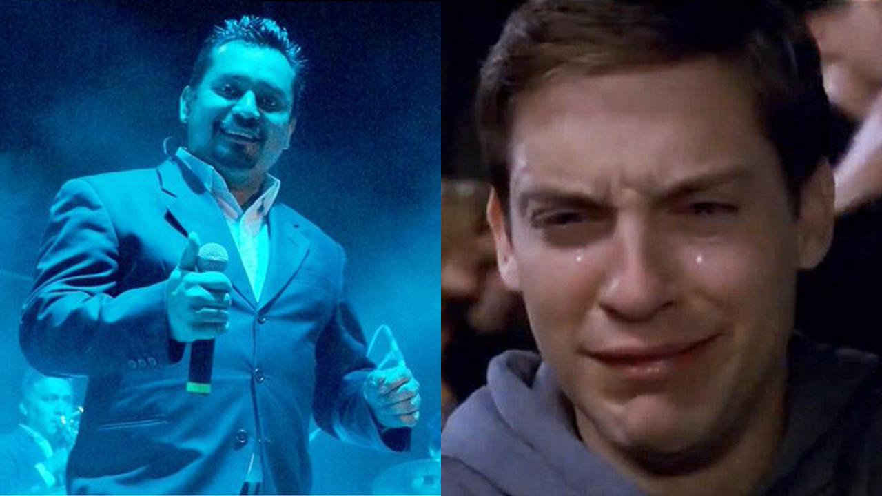 Héctor Hernández Ángeles Azules meme de Peter Parker