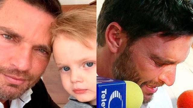 Julián Gil llorando por su hijo Matía