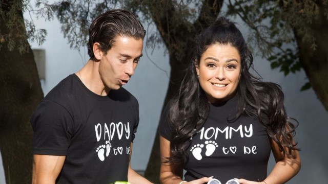 Mariana Echeverria y Oscar Jimenez son padres
