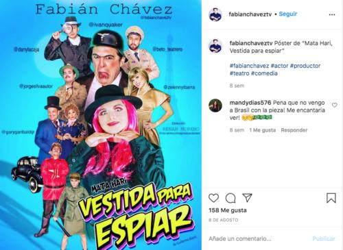 Fabián Chávez obra de teatro mujer
