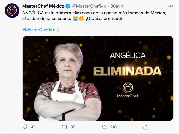Primera eliminada MasterChef México 2020