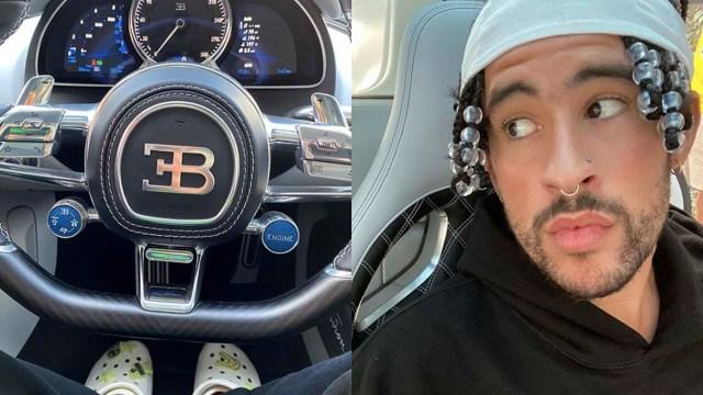 Bad Bunny presume en redes sociales su lujoso auto nuevo