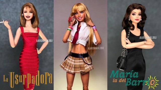 Artista transforma Barbies en personajes de telenovelas