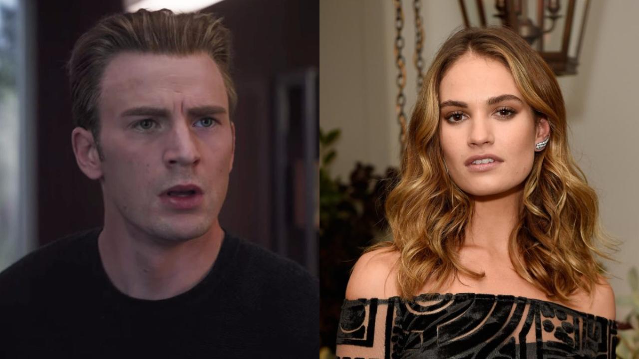 Lily James cambia a Chris Evans por un hombre casado 20 años mayor
