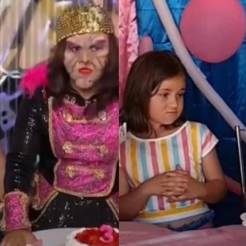Karla Panini recrea la pelea de la niña del pastel