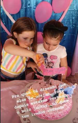 Las niñas del video viral del pastel