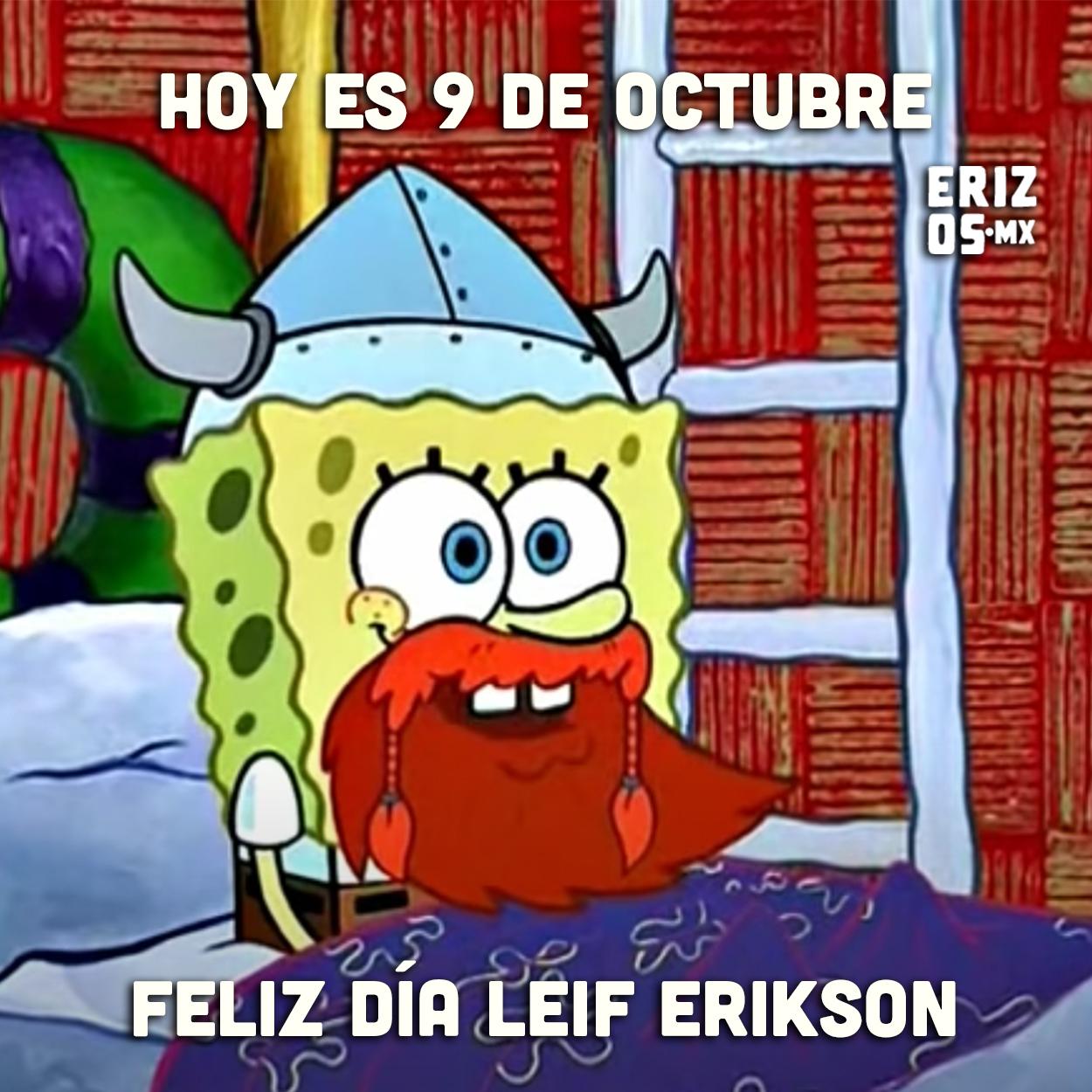 Meme de Bob Esponja en Leif Erikson