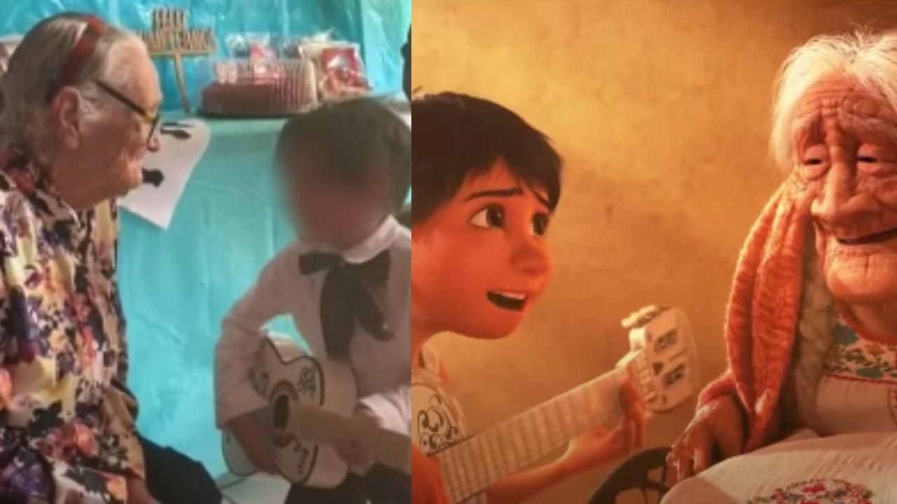 Niño canta Recuerdame bisabuela Coco
