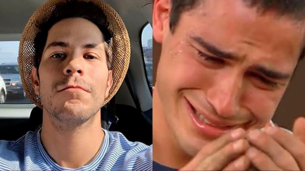Poncho Herrera llorando con Christian Chávez por RBD