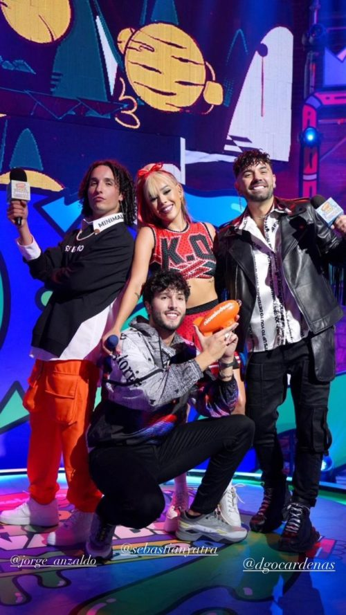 Danna Paola y Sebastián Yatra en los Kids Choice Awards 2020