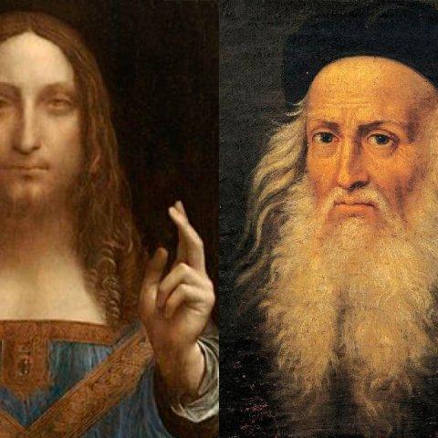 Pintura de Leonardo Da Vinci con imagen de cristo