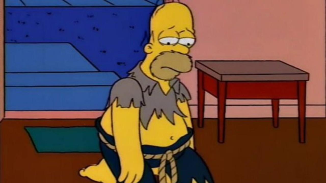 Homero Simpson triste por la Navidad 2020