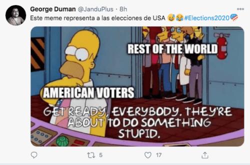 Meme gente de estados unidos votando