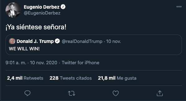 Eugenio Derbez manda mensaje a Donald Trump y lo critican severamente