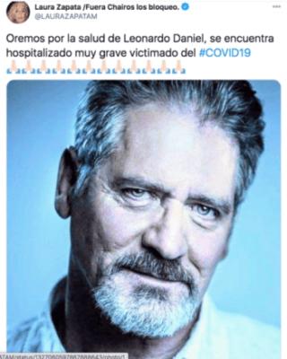 Laura Zapata apoya a Leonardo Daniel