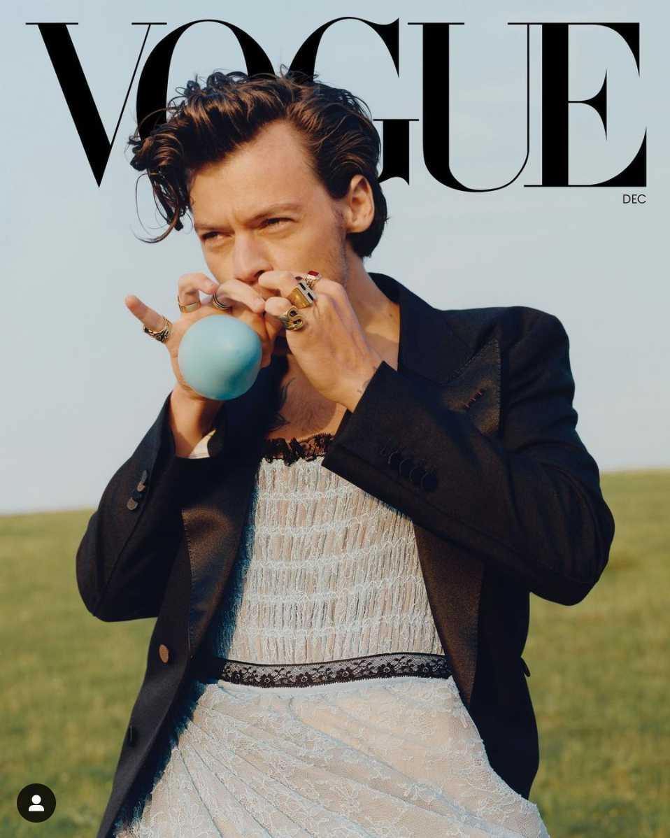 Harry Styles es el primer hombre en la portada de Vogue