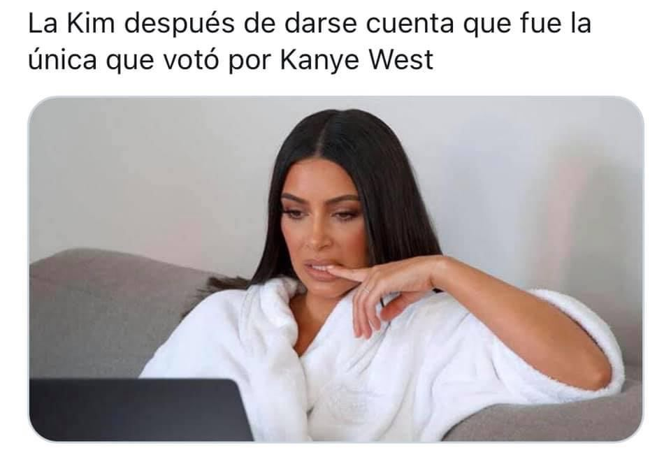 Memes elecciones 2020 Kim Kardashian