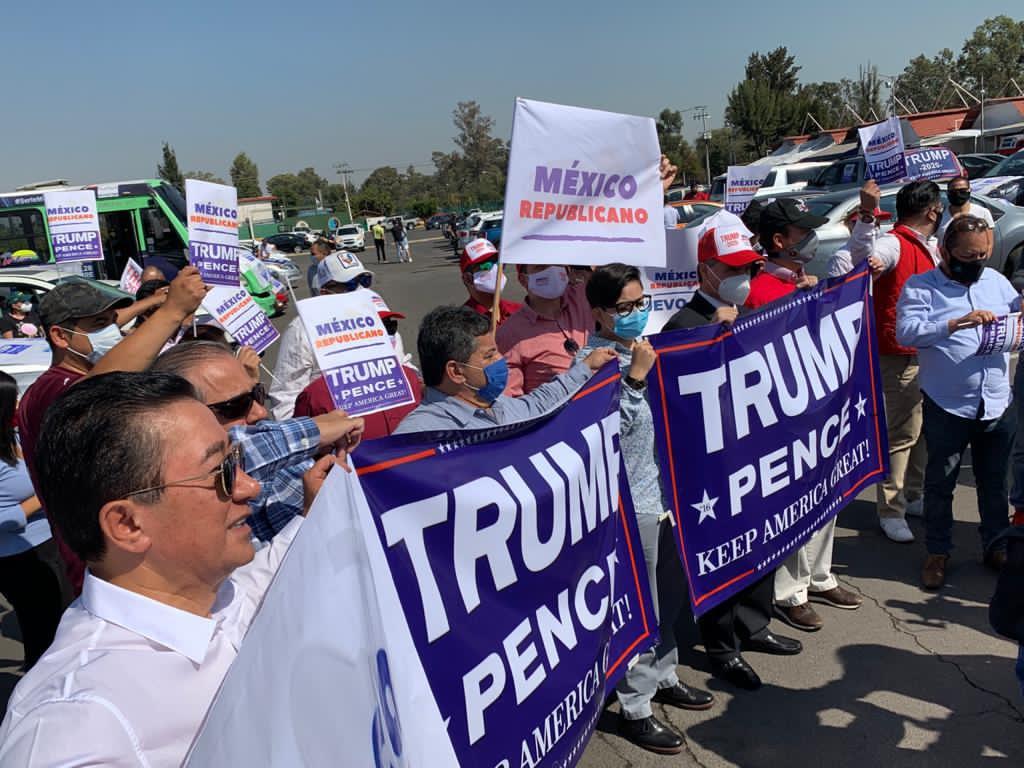 Mitin en Xochimilco por Trump