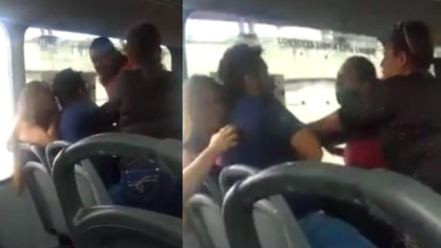 Suegra y esposa encuentran al marido con su novia y lo golpean