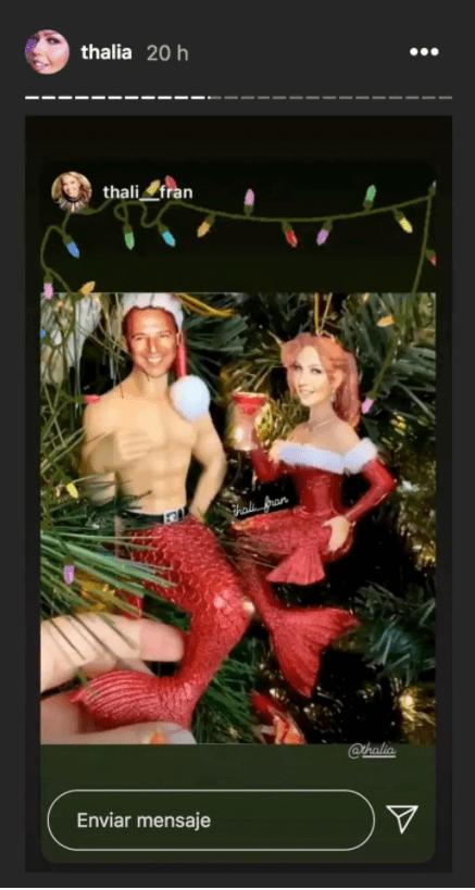 Thalía lanza nueva canción y presume su árbol de navidad