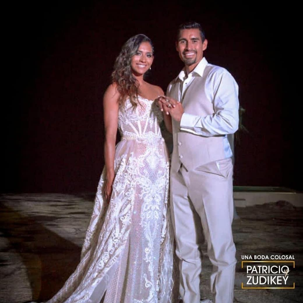 Pato Araujo y Zudikey boda en Exatlón