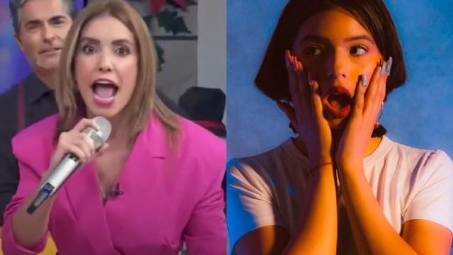Andrea Escalona imita a Ángela Aguilar en Hoy