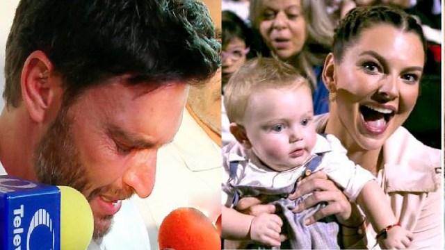 Julián Gil llorando por su hijo cantar con Marjorie de Sousa
