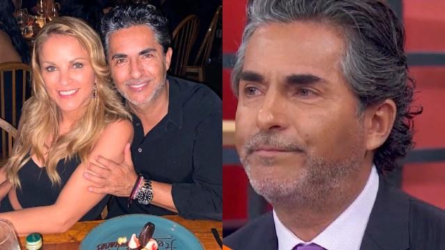 Raúl Araiza con su novia en hoy