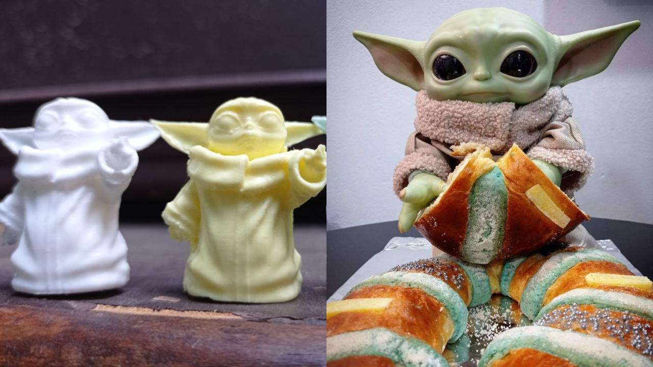 Crean rosca de reyes de Baby Yoda con muñequito y toda la cosa