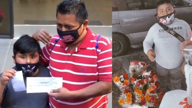 Edgar Machic, Niño inmigrante recibe cheque por 800 mil pesos