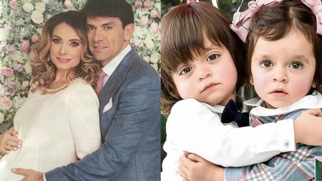 Elizabeth Álvarez y Jorge Salinas celebran el cumpleaños de sus mellizos