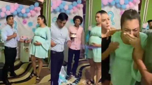 Hombre revela que es estéril durante baby shower y exhibe video de su pareja siendo infiel