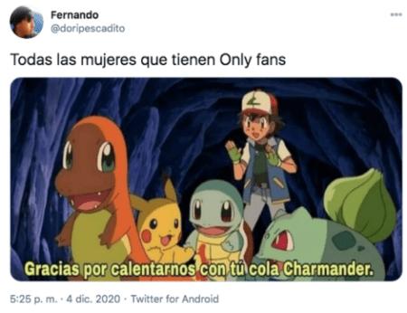 Meme de charmander en only fans