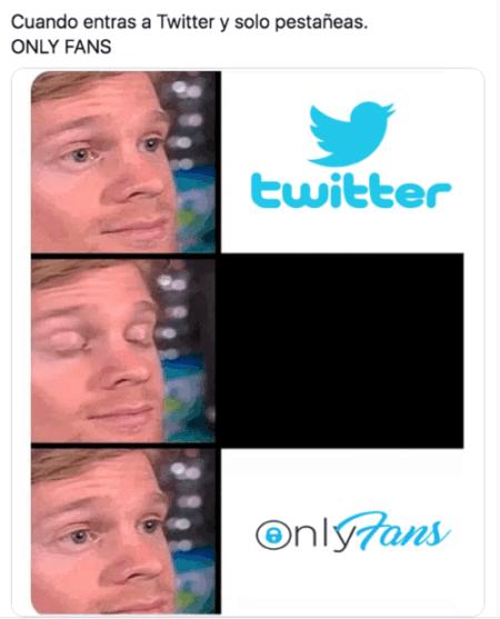 Meme pestañeando twitter only fans