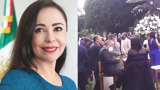 Patricia Durán, alcaldesa de Naucalpan, celebra su boda con más de 150 invitados pese a Covid