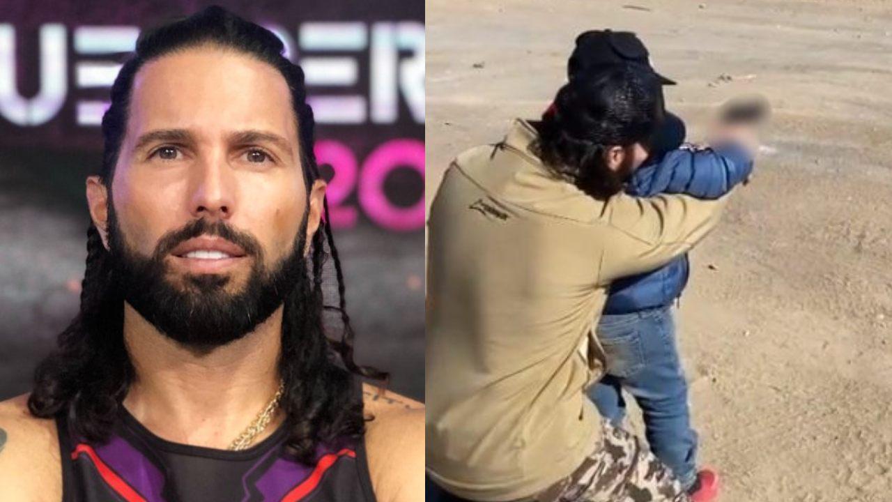 Poncho de Nigris recibe críticas por enseñar a disparar a su hijo de 4 años