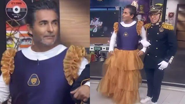 Raúl Araiza se viste como quinceañera tras derrota del Cruz Azul