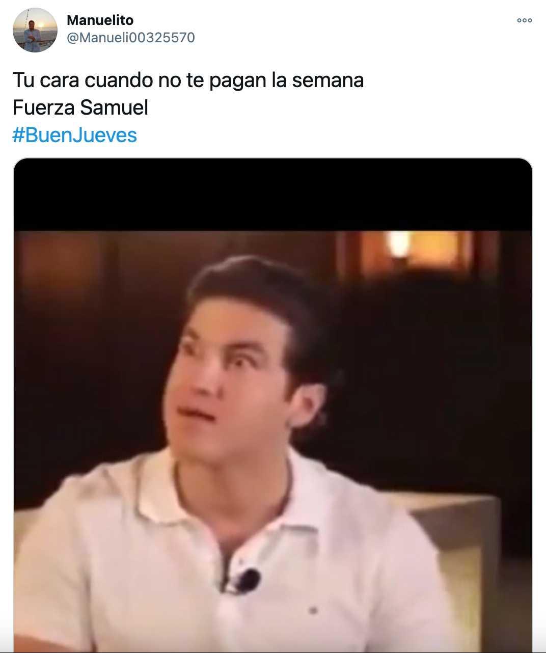 Twitter: Samuel García se queja de que tuvo que jugar golf en su trabajo