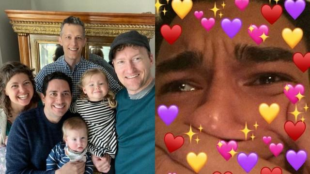 Tres hombres se convierten padres legales de niños reconocidos por la ley