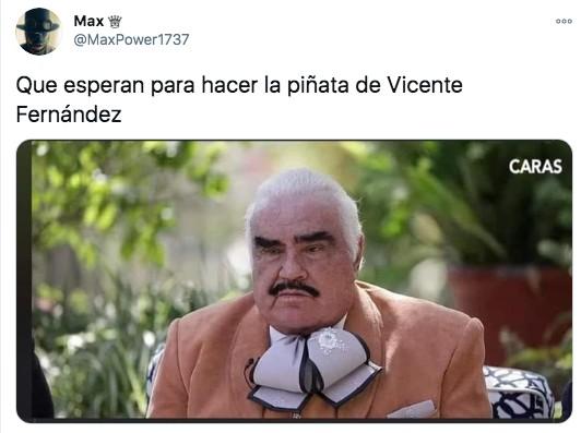 Meme vicente fernández hecho piñata