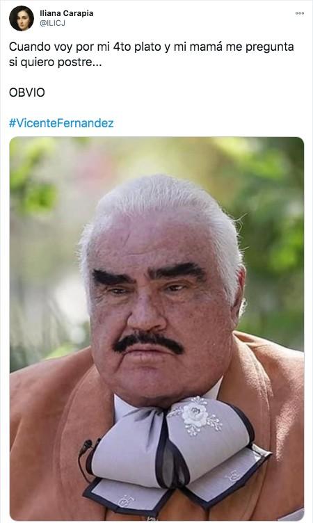 Meme Vicente fernandez sin postre