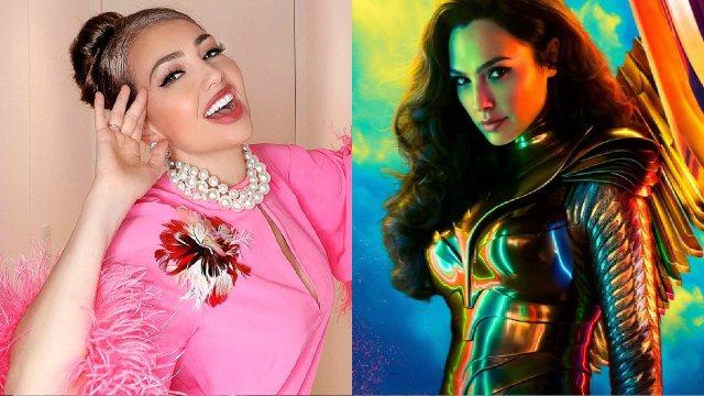 Thalía usa disfraz de la mujer maravilla