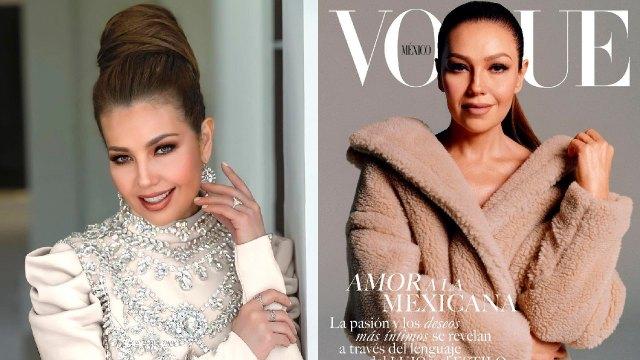 Thalía como portada de la revista vogue
