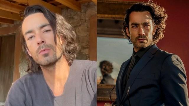 Aaron Díaz cabello largo