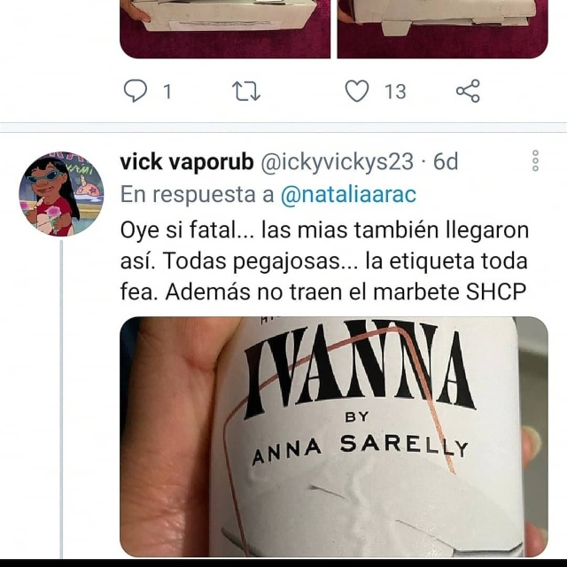 Comentarios twitter Anna Sarelly