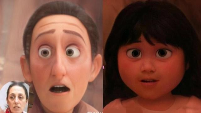 Cambian la cara de personajes virales y políticos al estilo Disney Pixar